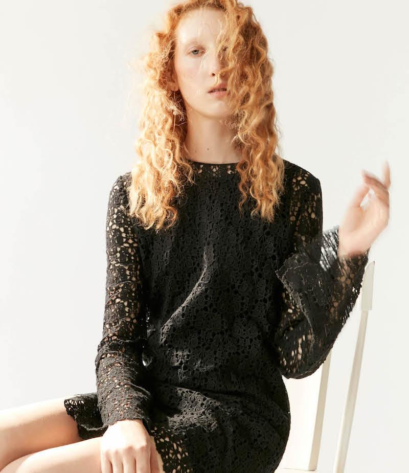 R/R Studio by Robert Rodriguez Guipure Lace Shift Dress