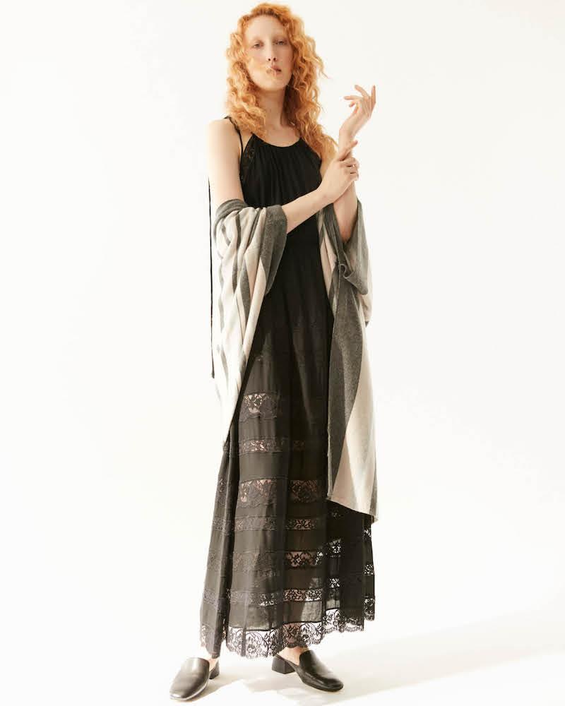 R/R Studio by Robert Rodriguez Lace-Inset Maxi Dress