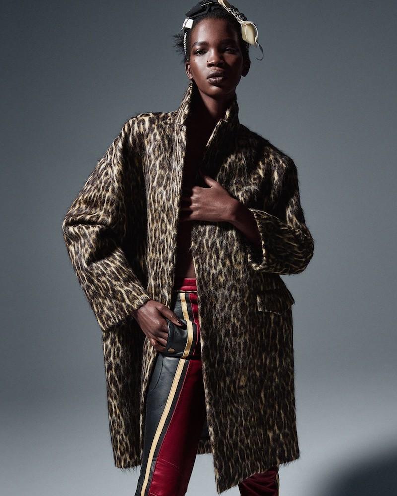 Raey Leopard-Print Wool-Blend Overcoat