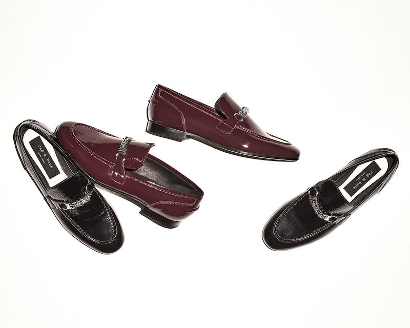 Rag & Bone Cooper Patent Chain Loafer