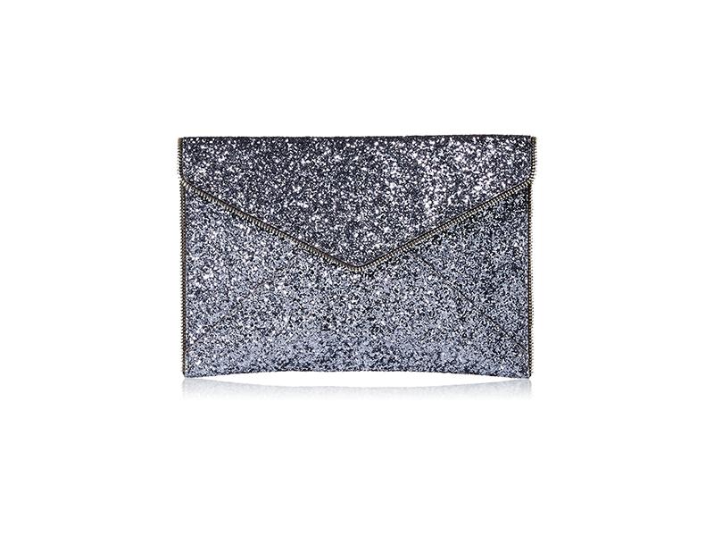 Rebecca Minkoff Glitter Leo Envelope Clutch