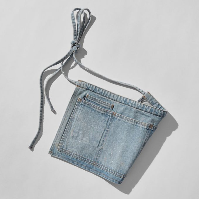 SSENSE Exclusive Levi s Made & Crafted x Off-White Blue Carpenter Apron Belt
