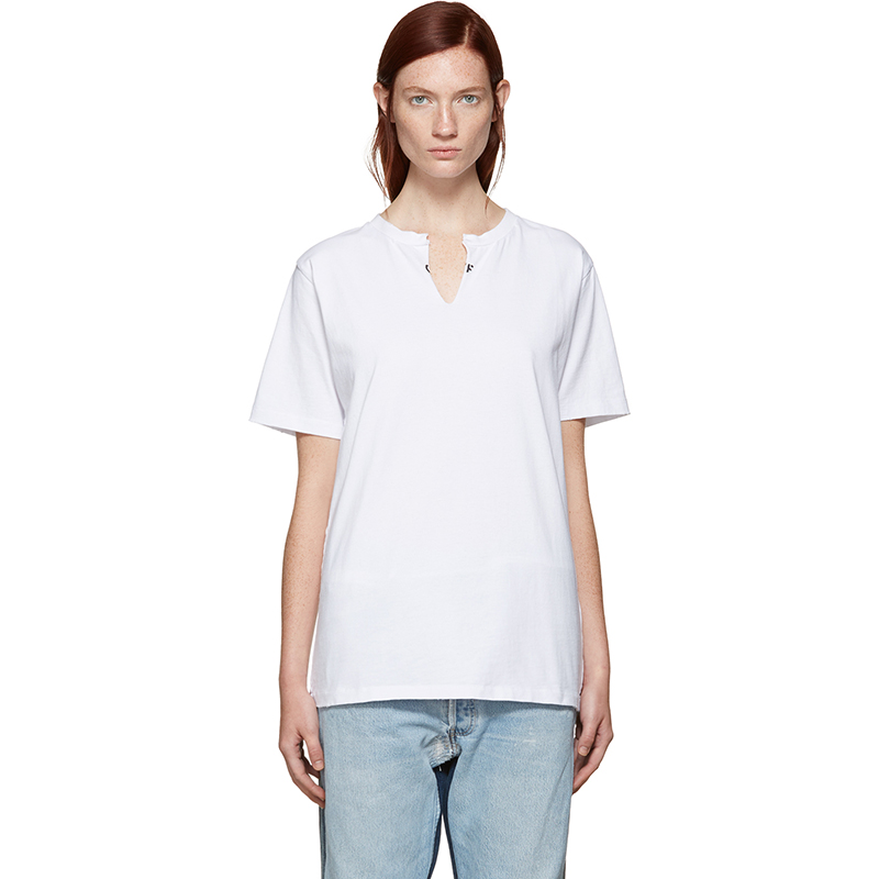 SSENSE Exclusive Levi s Made & Crafted x Off-White White Crew Cut T-Shirt