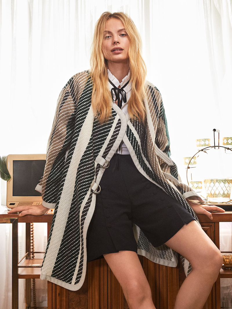 See by Chloé Oversized Striped Coat