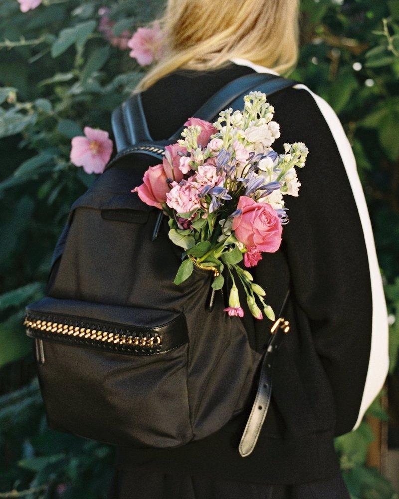 Stella McCartney Black Falabella GO Backpack