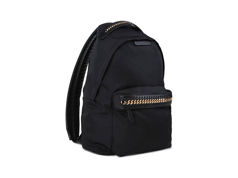 Stella McCartney Black Falabella GO Backpack