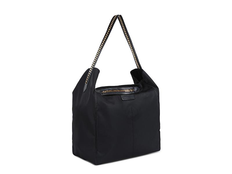 Stella McCartney Black Falabella GO Hobo Bag
