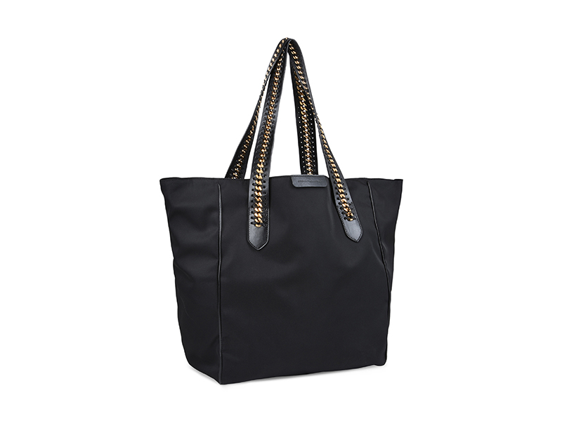 Stella McCartney Black Falabella GO Shoulder Bag