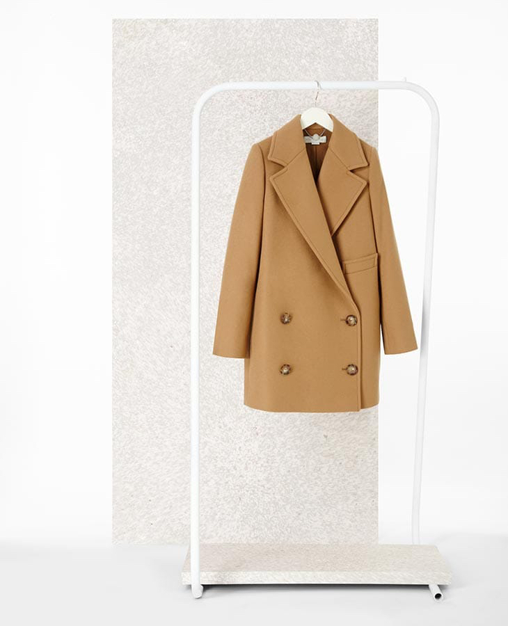 Stella McCartney Double-Breasted Wool-Blend Coat