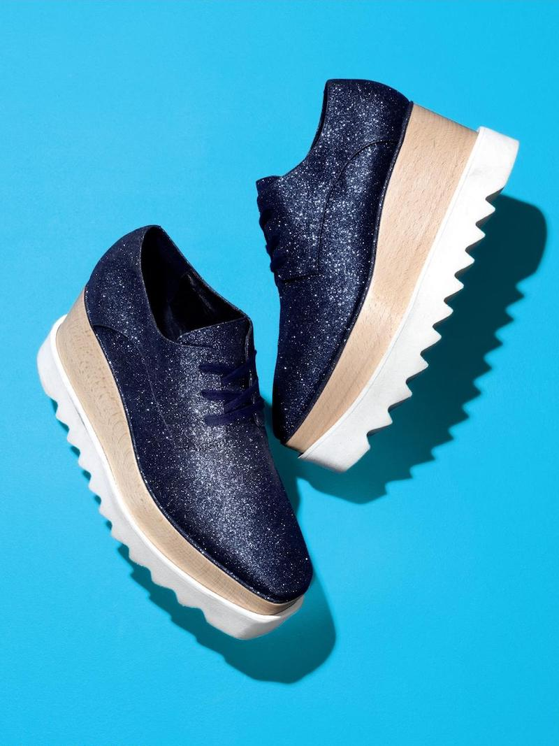 Stella McCartney Elyse Glitter Platform Oxfords