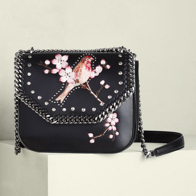Stella McCartney Fallabella Embroidered Crossbody Bag