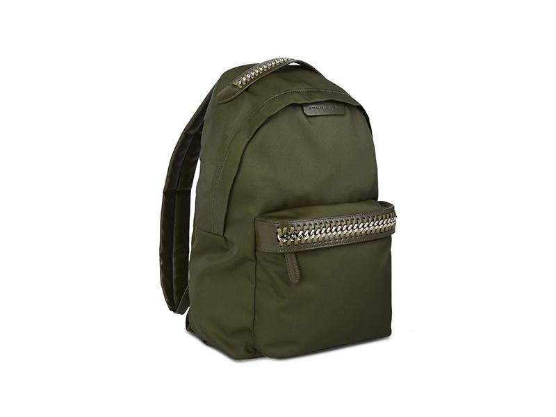 Stella McCartney Khaki Falabella GO Backpack