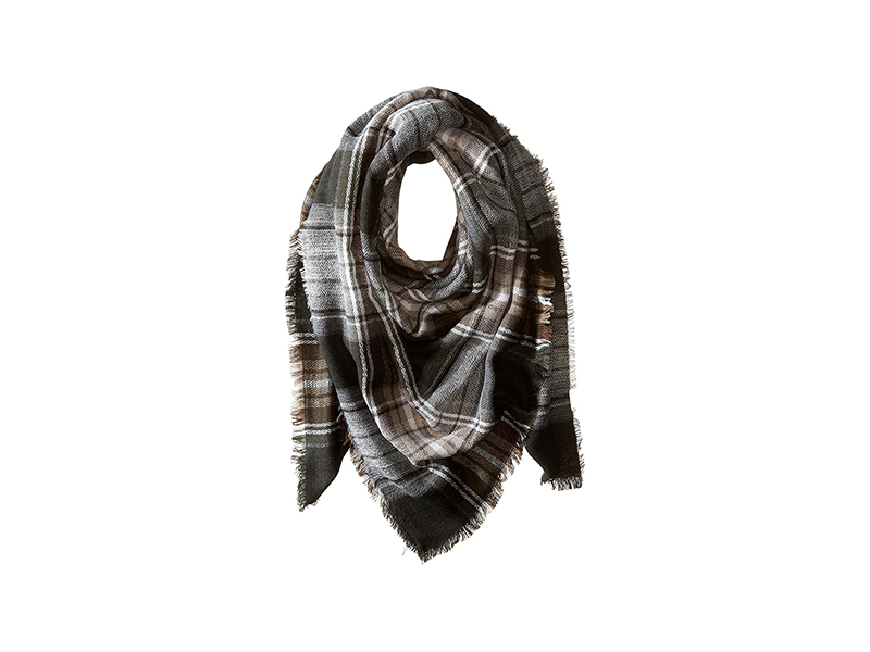 Steve Madden Classic Plaid Square Blanket Wrap