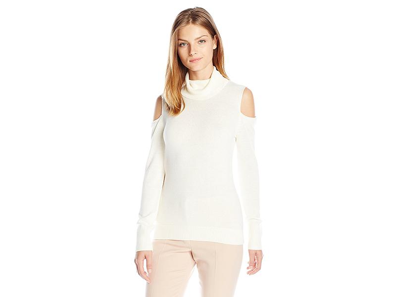 T Tahari Flynn Cold-Shoulder Sweater
