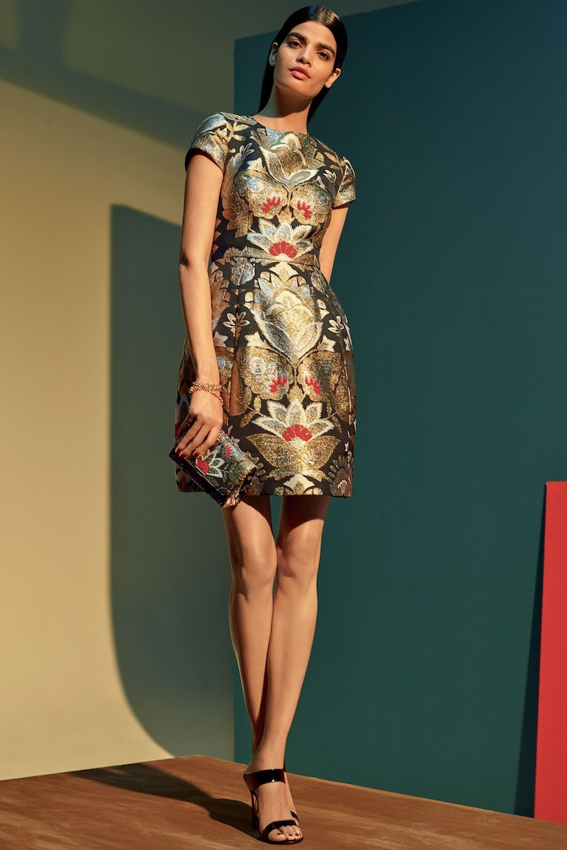 Ted Baker London Imoen Opulent Orient Jacquard Fit & Flare Dress