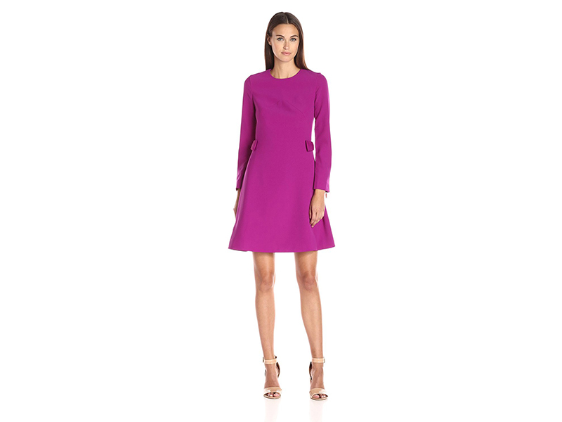 Ted Baker Side Bow Long-Sleeve Dress