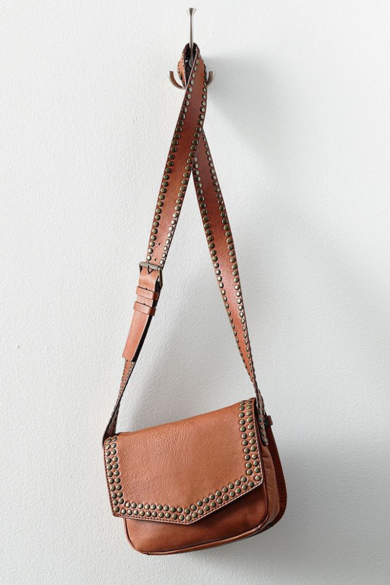 Treasure&Bond Studded Leather Crossbody Bag