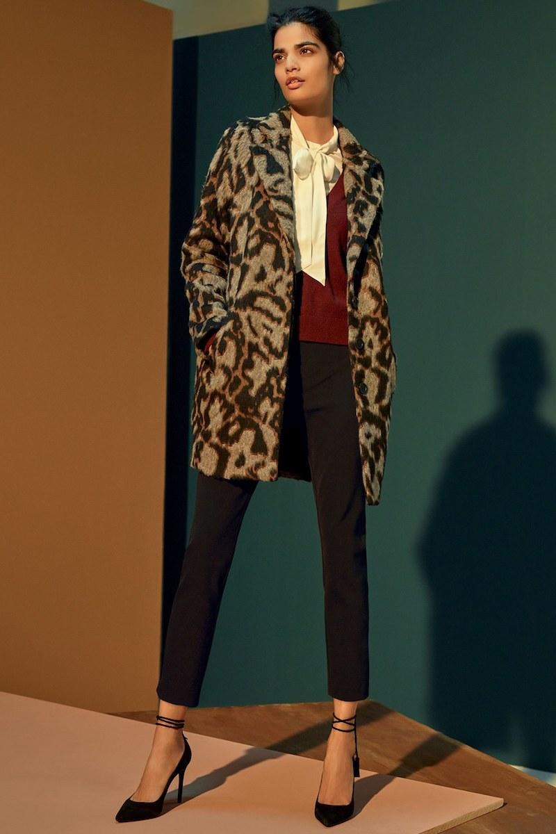 Veronica Beard Camille Leopard Jacquard Cocoon Coat