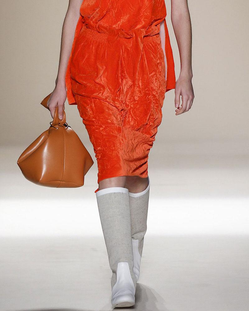 Victoria Beckham Ruched Velvet Pencil Skirt
