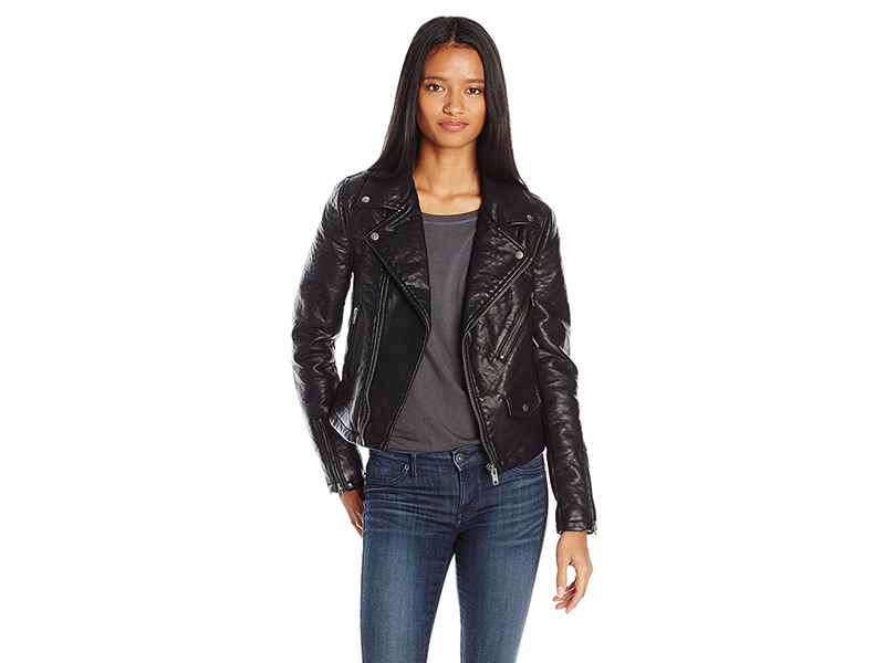 Vigoss Moto Classic Jacket with Detachable Fur Trim