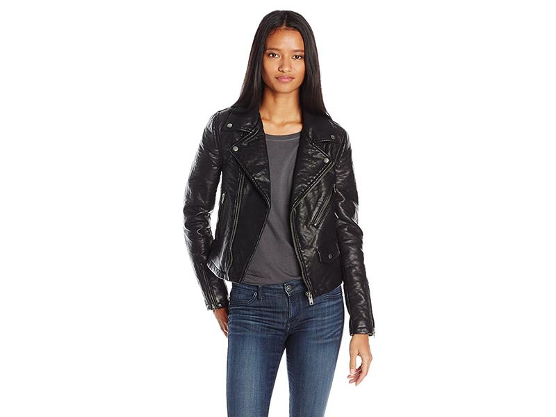 Vigoss Moto Classic Jacket with Detachable Fur Trim