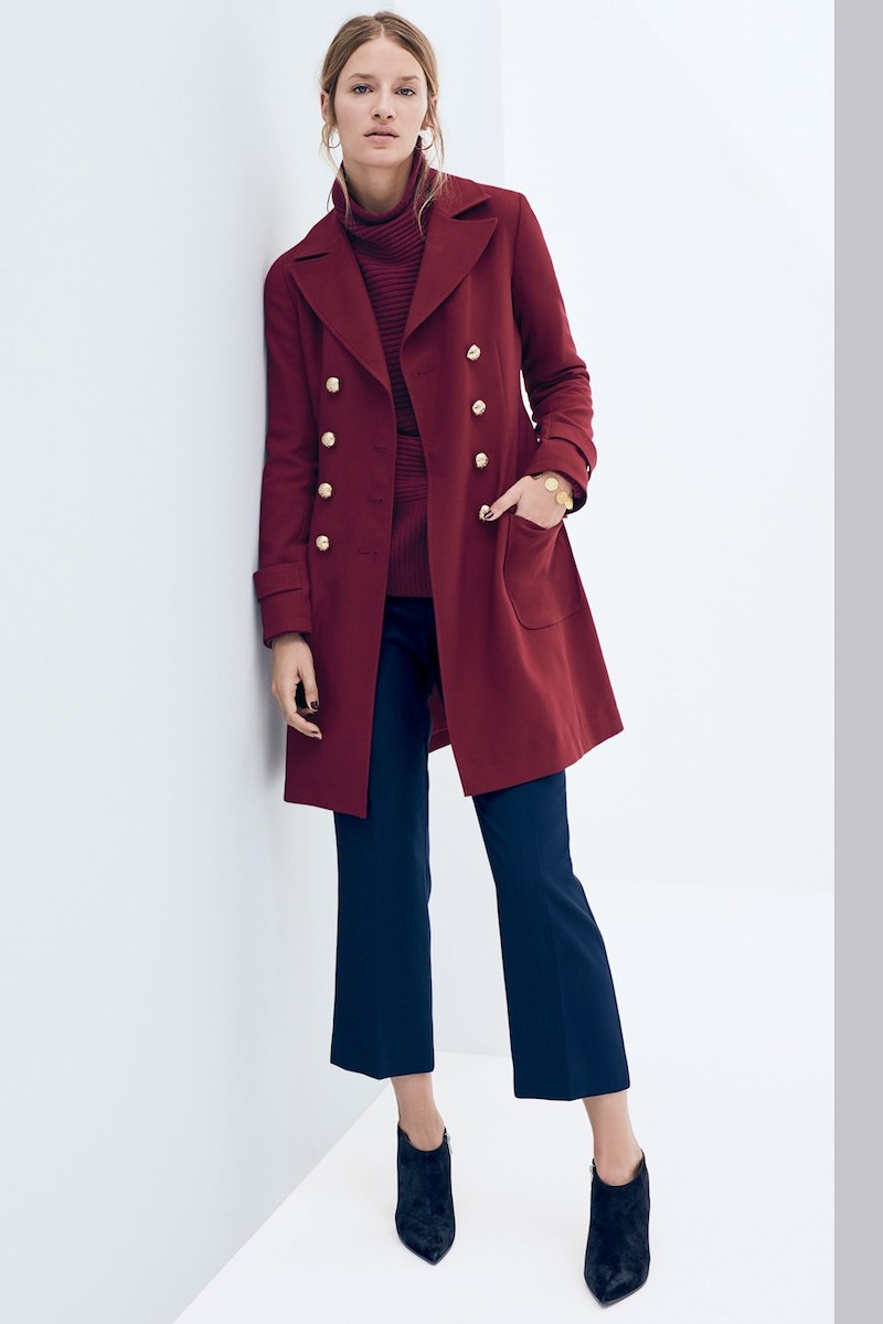Vince Camuto Double Breasted A-Line Coat