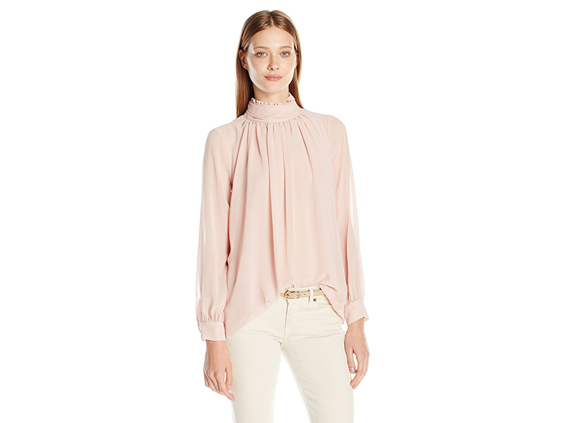 Vince Camuto Long Sleeve Ruffle Neck Blouse