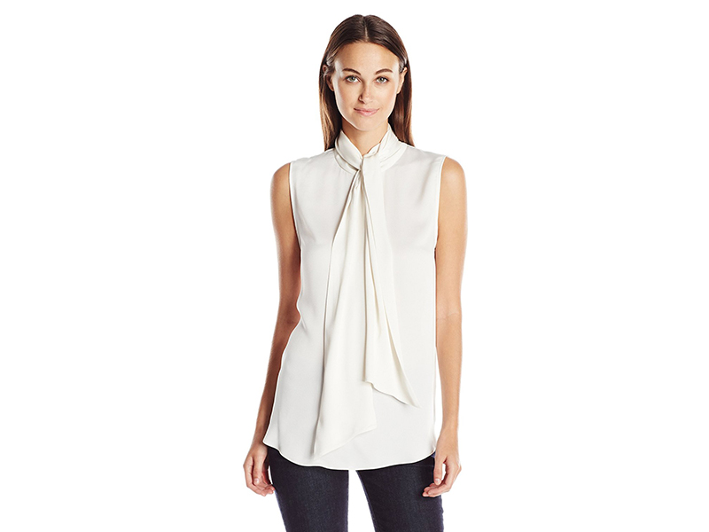 Vince Camuto Sleeveless Bow Neck Blouse