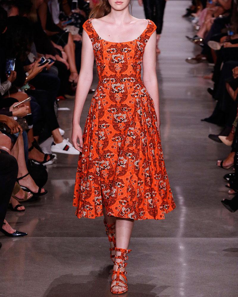 Zac Posen Floral Jacquard Sleeveless Midi Dress