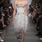 Zac Posen Strapless Sequined Illusion Gown