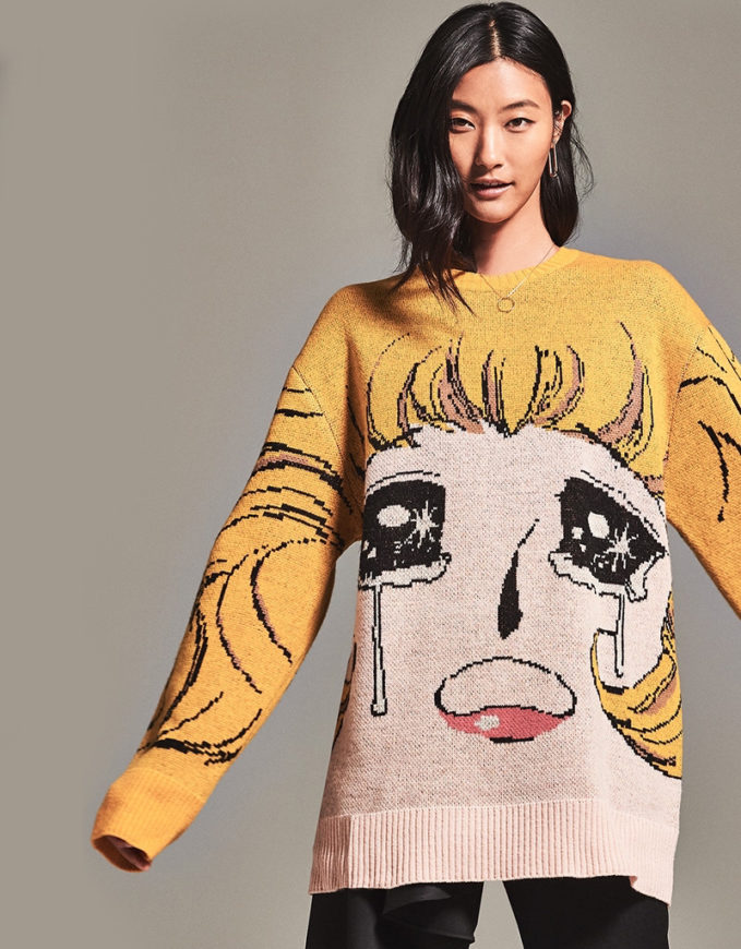 pushBUTTON Anime Sweater