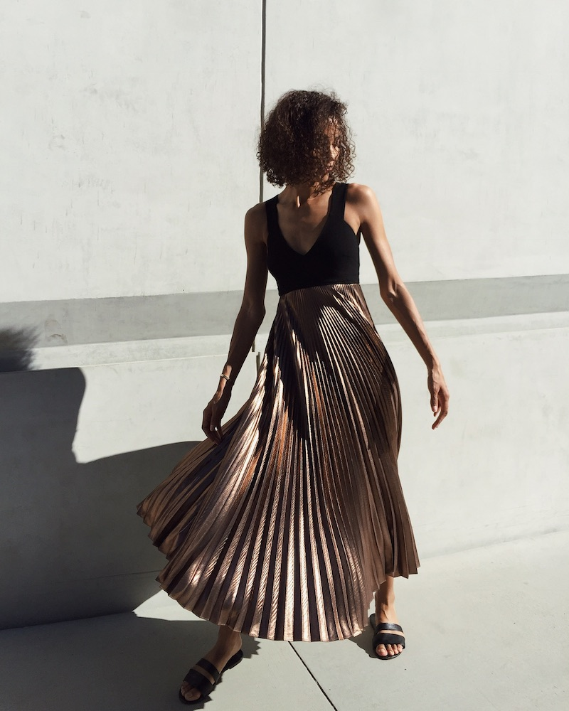 A.L.C. Alba Lamé Dress