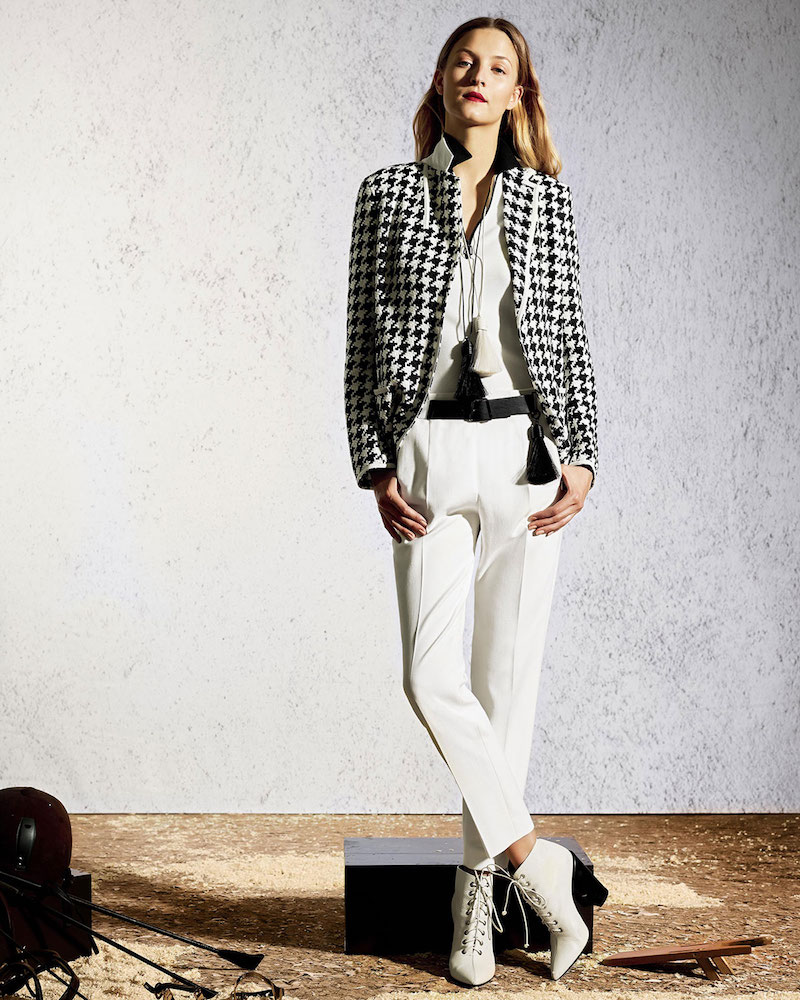 Akris Houndstooth One-Button Blazer