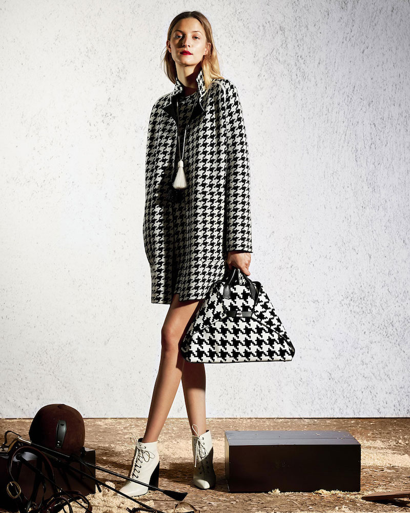 Akris Reversible Houndstooth Cashmere Coat