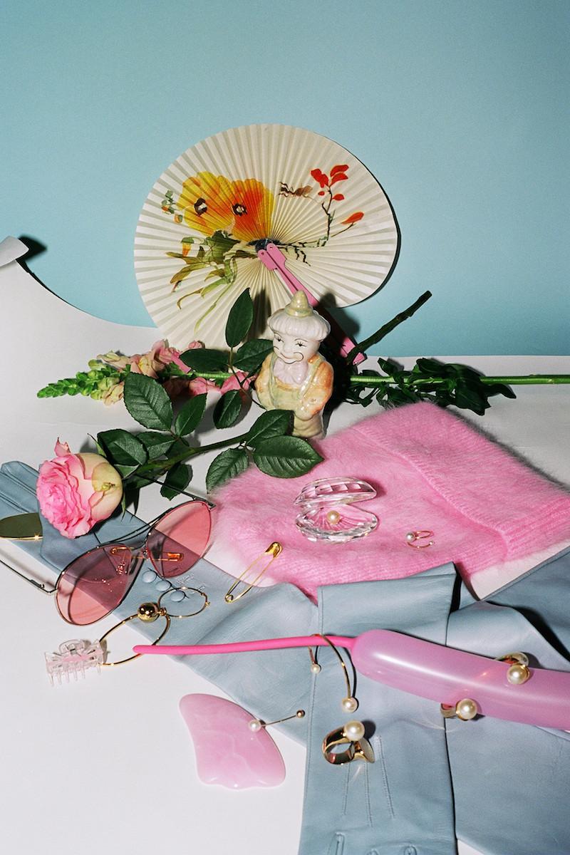 Alexander Wang Pink Angora Girls Beanie