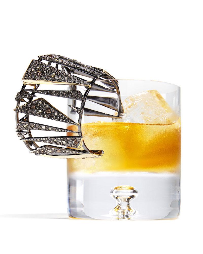 Alexis Bittar Two-Tone Crystal Cuff Bracelet