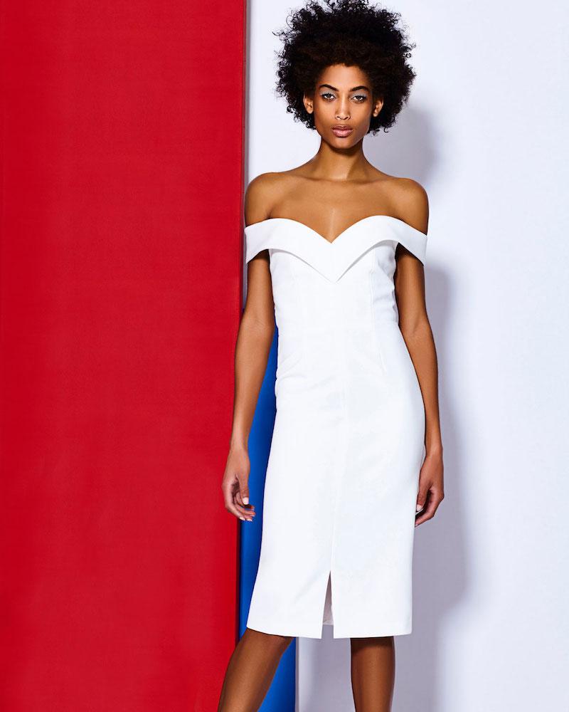 Alice + Olivia Luana Off-the-Shoulder Sheath Dress