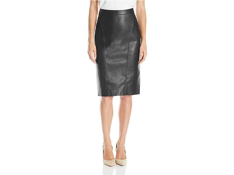 BCBGMAXAZRIA Natilie FX Leather Skirt