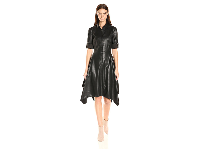 BCBGMax Azria Beatryce Faux Leather Dress