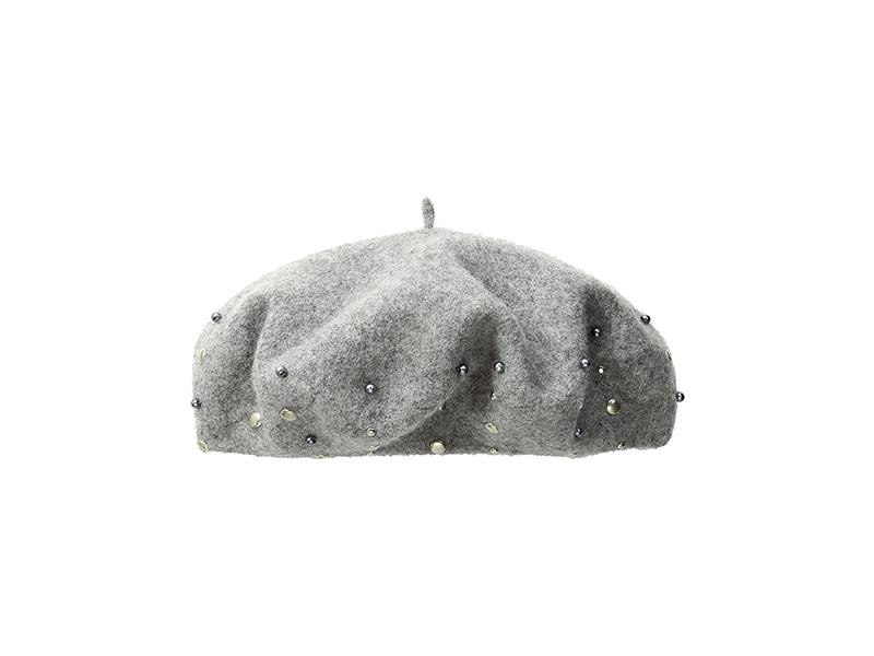 BCBGeneration Studded Pearl Beret Hat
