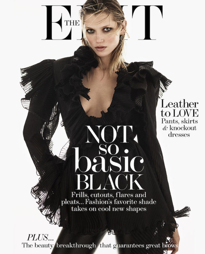 Black Beauties Hana Jirickova for The EDIT Cover