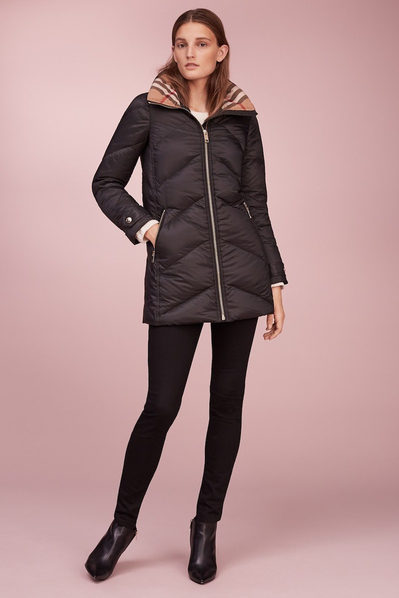 Burberry Eastwick Chevron Quilted Coat