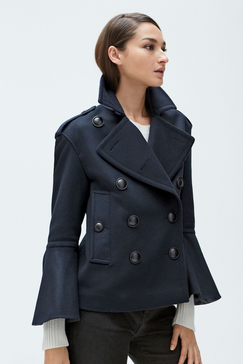 Burberry Juliette Townhill Double Breasted Peacoat