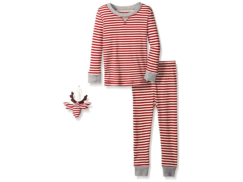 Burt's Bees Kids & Baby Unisex Organic 2-Piece Pajama Set with Ornament
