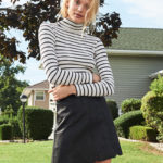 Club Monaco Julie Stripe Turtleneck
