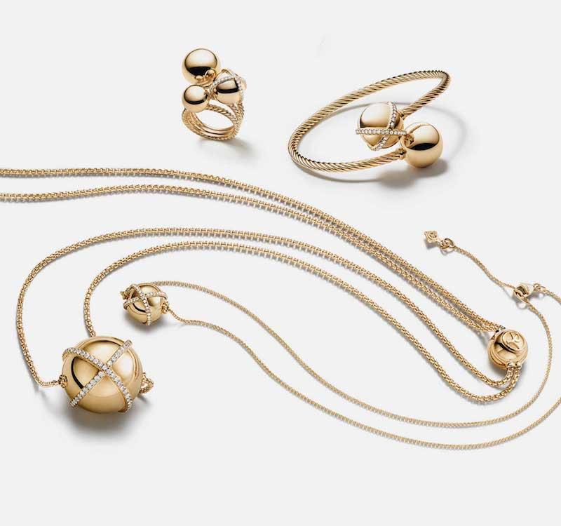 David Yurman Solari Cluster Ring with Diamonds in 18K Gold