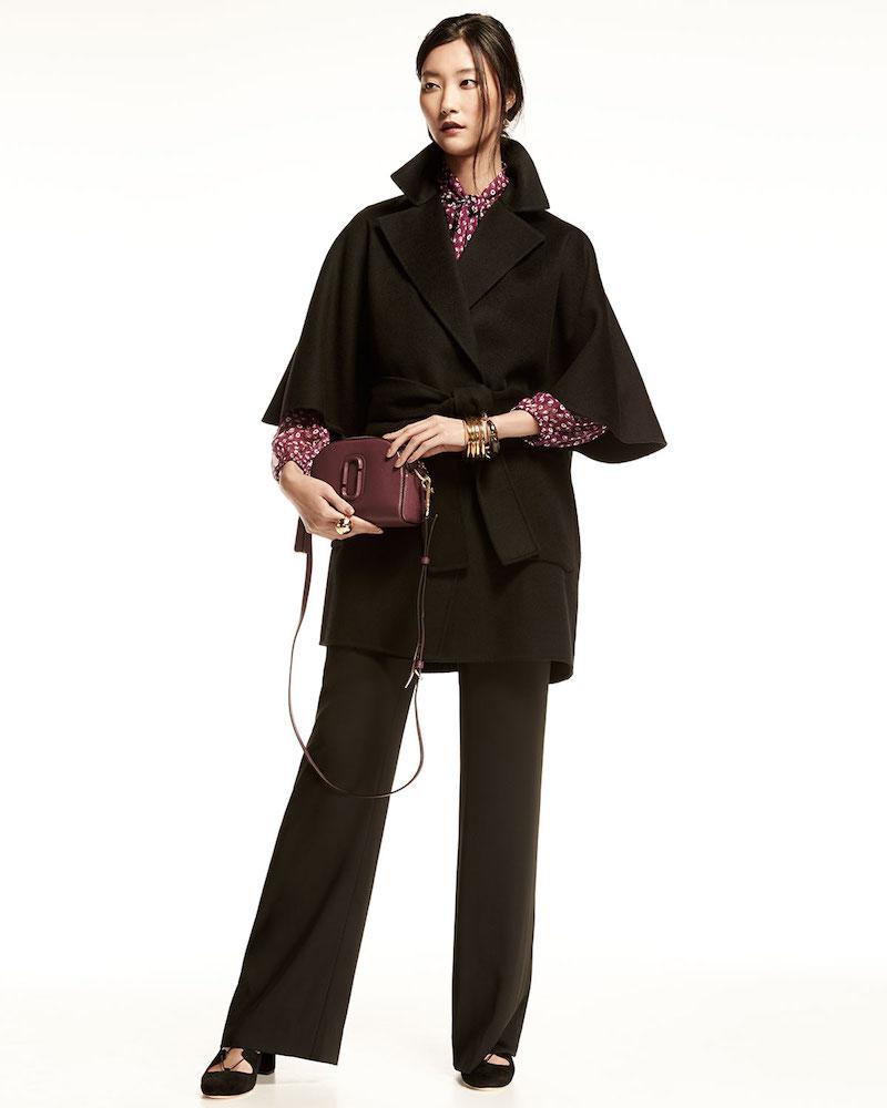 Diane von Furstenberg Oversized Half-Sleeve Wrap Coat