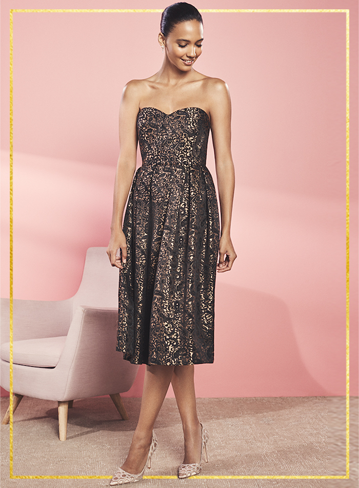 ERIN erin fetherston Mary Strapless Brocade Dress