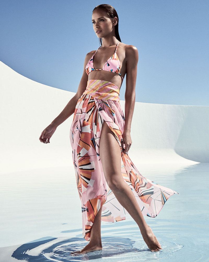 Emilio Pucci Parasol Silk Maxi Coverup Skirt