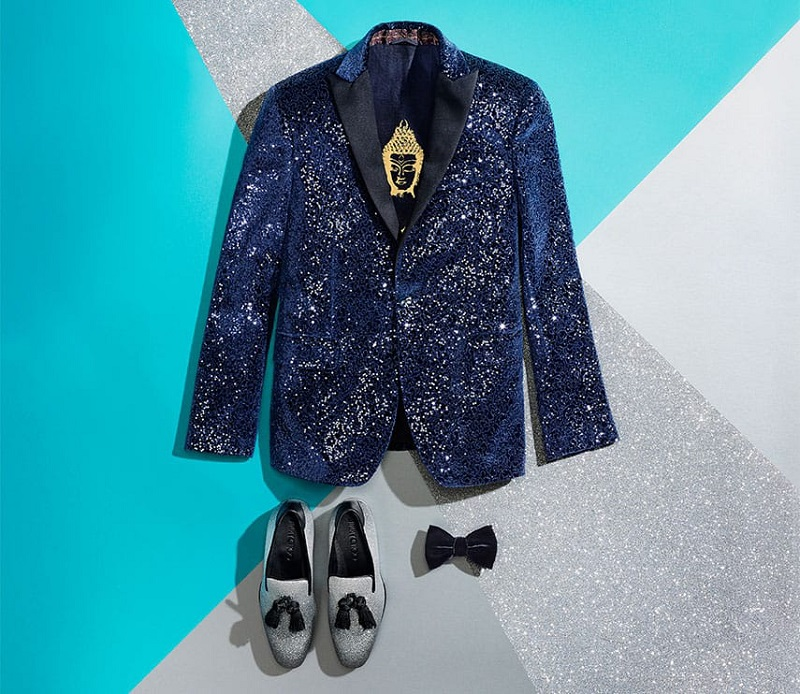 Etro Sequin-embellished velvet jacket